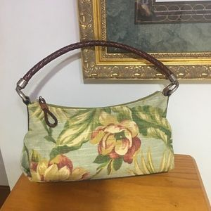 Beautiful fossil leather and cloth bag